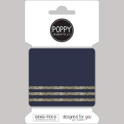 Bord-Côtes Bleu Marine - lignes dorées
