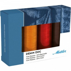 Box 4 bobines Mettler Bleau Jeans